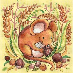 Mouse Cross Stitch Kit £15.50 | Past Impressions | Heritage Crafts