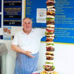 O incrível hambúrguer de um metro e sessenta