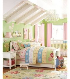 Our nursery theme. Daisy flower garden first for Hailey then Aly. Pottery barn kids. Never stopped loving this theme :)