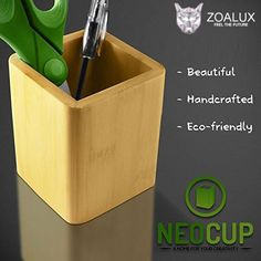 Pencil Cup Holder Eco-Friendly Bamboo - Box for Desk Cute Case Organizer Jar Container for Desktop Display - Highest Quality Luxury Premium Pencil Cup Holder, Bamboo Box, Office Stationery, Cute Cases, Big Family, Eco Friendly, Jar, Organization, Display