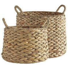 Beckett Water Hyacinth Baskets