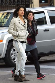 Michelle Rodriguez was seen out for an afternoon walk in Toronto's Yorkville area.