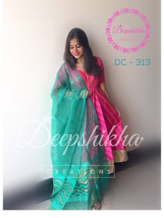 DC - 313For queries kindly inbox orEmail - deepshikhacreations@gmail.com Whatsapp / Call -  919059683293  14 November 2016 Designer Anarkali Dresses, Salwar Dress, Punjabi Dress, Frock Dress, Designer Dresses, Indian Dresses, Indian Outfits, Mode Bollywood, Frock Models