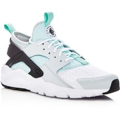 Nike Men's Air Huarache Run Ultra Lace Up Sneakers ($65) ❤ liked on Polyvore featuring men's fashion, men's shoes, men's sneakers, mens lace up shoes, mens shoes, mens sneakers, nike mens sneakers and nike mens shoes