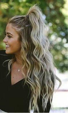Hat jemand eine schnelle Party Frisuren für langes Haar 2019 - #Frisuren # für #Haa ...