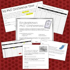Assessment packets and organization for parent teacher conferences
