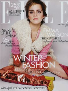 Emma Watson - Elle UK - 2011. To view the tutorial to recreate this look click here http://www.lisaeldridge.com/video/20502/my-emma-watson-cover-look/ #LisaEldridge #makeup #beauty