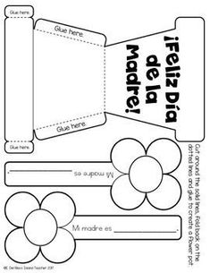 Spanish Mothers Day El Dia de la Madre Activity Craft Best Picture For DIY Mothers Day flowers For Your Taste You are looking for something, and Mothers Day Flower Pot, Mothers Day Crafts For Kids, Mothers Day Cards, Diy Mother's Day Crafts, Mother's Day Diy, Crafts To Make, Birthday Presents For Mom, Gifts For Mom, Diy Mother's Day Flowers
