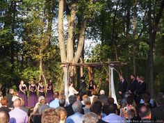 Beautiful Fall Wedding ~ Wedding in the Woods at The Gardens of Castle Rock | #TheGardensofCR #MNWedding #MinnesotaWeddingVenue #WeddingArch #WeddingCeremony