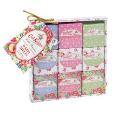 Cath Kidston Wild Flowers Assorted Fragrances Bath Melts - Bluebell, Wild Rose & Honeysuckle x 9
