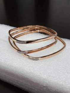 25 trendy Ideas for jewerly simple bracelets jewels 25 trendy Ideas for jewerly simple bracelets jewels Plain Gold Bangles, Gold Bangles Design, Gold Jewellery Design, Handmade Jewellery, Rose Gold Bangles, Gold Jewelry Simple, Simple Bracelets, Bangle Bracelets, Fashion Jewellery Online