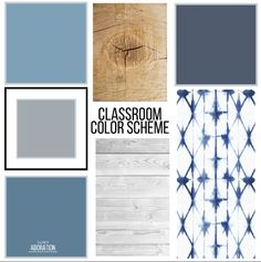 Classroom Color Scheme Want to bring a cohesive look to your classroom? Worried it won't appeal to both your male and female students? Check out this classroom color scheme to create a soothing and inviting space for your high school students. Calm Classroom, Modern Classroom, Classroom Design, Preschool Classroom, Future Classroom, Classroom Door, Teacher Classroom Decorations, Classroom Themes, Decorating High School Classroom