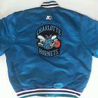 For Sale - Vintage 1990s NBA Charlotte Hornets Starter Jacket Large Teal Satin Snap - See More At http://sprtz.us/HornetsEBay