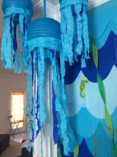 Under The Sea Bubble Guppies Birthday Party- if she decides she likes bubble guppies an under the sea theme would be cute. Or you could do this for little mermaid