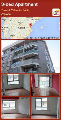3-bed Apartment in Torrent, Valencia, Spain ►€65,000 #PropertyForSaleInSpain