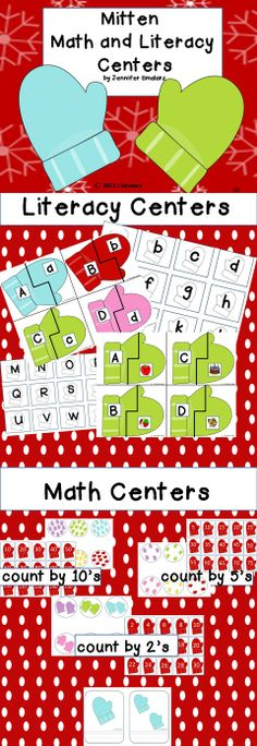 Mitten Math and Literacy Centers. Independent fun for your students while you work with small groups.