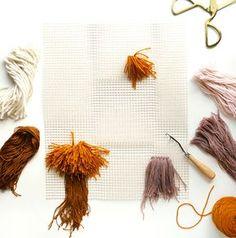 Latch Hook Wall Hanging DIY – A Beautiful Mess