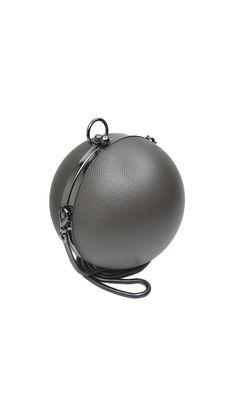 Коричневая круглая сумка