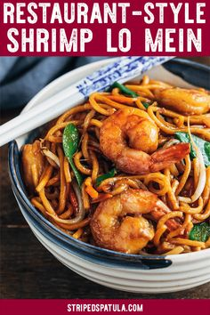 See Takeout Fakeout! See how easy it is to make restaurant-quality Shrimp Lo Mein at home in just 30 minutes prep to finish. Weeknight dinner made easy. Asian Recipes, Healthy Recipes, Chinese Recipes, Chinese Cabbage, Chinese Food, Chinese Vegetables, Asian Cooking, Shrimp Recipes, Noodle Recipes