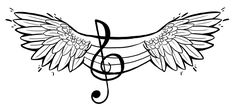 Music Wings Tattoo (Feminine) by JessCurious on DeviantArt Music Notes, Wings, Feminine, Deviantart, Tattoos, Music, Women's, Tatuajes, Japanese Tattoos