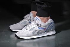"""Ditching the faux distressing of 2013's """"Vintage"""" pack, Reebok's classic LX 8500…"""