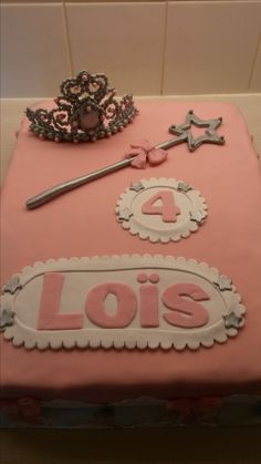 Verjaardagstaart 4 jaar meisje prinsessentaart