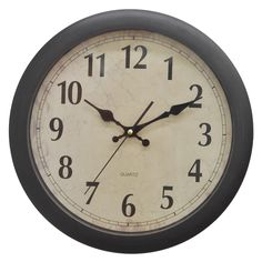 Wall Clock with White Dial