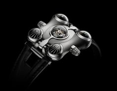 Inspired by a Japanese anime TV series, Captain Future, Maximilian Büsser, MB&F's founder, created a fantastically weird timepiece: the Space Pirate. Unusual Watches, Cool Watches, Watches For Men, Men's Watches, Fine Watches, Luxury Watches, Aftershave, Space Captain, Maximilian