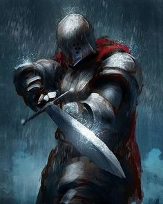 m Fighter Plate Helm Sword rain