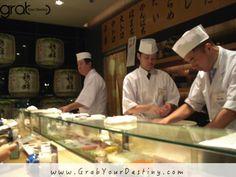 Sushi In Tokyo, Japan  #Travel #GrabYourDestiny #Sushi #JasonAndMichelleRanaldi #Tokyo #Japan  #GoodFood  www.GrabYourDestiny.com