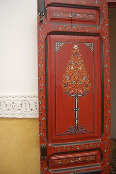 Hand-painted Moroccan door [m pease check out Door Portals board as the & Moroccan painted door | Moroccan Doors and Marrakesh
