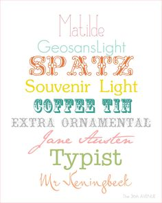 Cute Free Fonts | The 36th AVENUE