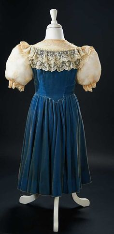 """The Blue Velvet Dress Worn by Shirley Temple in the 1939 Film """"The Little Princess"""" $5000+"""