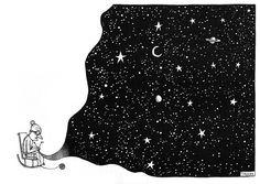 Dreamy cosmic illustrations by Gervasio Troche