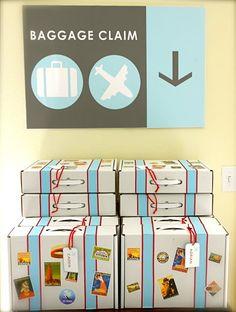 Baggage Claim Plane party favors - Recogida de equipaje para fiesta viajera