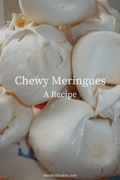This is a fabulous recipe that creates billowy, chewy, moreish meringues. Gourmet Recipes, Sweet Recipes, Baking Recipes, Cookie Recipes, Dessert Recipes, Gourmet Foods, Pudding Recipes, Cheesecake Recipes, Cupcake Recipes