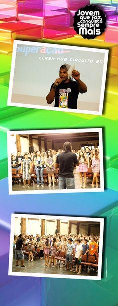 """O CinemAção agitou a galera na etapa estadual do Circuito de Juventude 2011! O MC Alisson comandou a festa que contou com a premiação do melhor flashmob do circuito e com a exibição do filme """"Senna""""."""