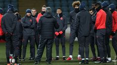 MANCHESTER UNITED SPORT NEWS: GALLERY: REDS PREPARE FOR FINAL EUROPA GAME