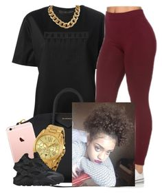 """""""✨✌️"""" by newtrillvibes ❤ liked on Polyvore featuring Alexander Wang, Givenchy, Michael Kors and NIKE"""