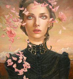 Unique Portrait Paintings by Kris Lewis