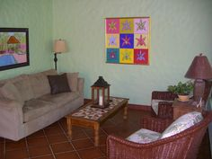 Living room at Villa La Fiaca