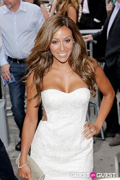 Melissa Gorga- love her hair, makeup, dress and tan i want it all