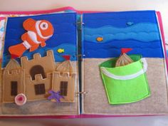 Sandcastle ocean page with a Nemo fish!