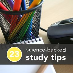 23 Science-Backed Study Tips to Ace a Test---pretty neat and helpful