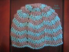 Crochet Hat Pattern | Easy Ripple Beanie Pattern | Newborn to Adult