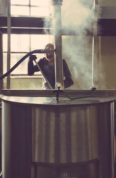 There's always a wonderful aroma when our head brewer is mashing grain!