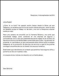 Ejemplo De Una Carta Formal   Este sería un ejemplo de carta informal. Spanish Worksheets, Writing, Google, Blue, Ideas, Truths, Dance Photography, Good Advice, Letters