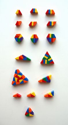 Useful Shapes for Cheese Slope Mosaics by eilonwy77, via Flickr