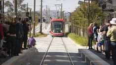 Media and community members wait to ride the light rail on the first day of operation for passengers. Sustainable Transport, Light Rail, Three Days, Public Transport, Transportation, Street View, In This Moment, Trains, Community