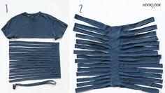Diy t-shirts recyclés en pelotes Trapilho - HOOKLOOK. Méli-mélo d'idées en laine et au crochet.